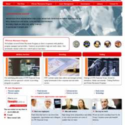 Web giới thiệu về tài chính